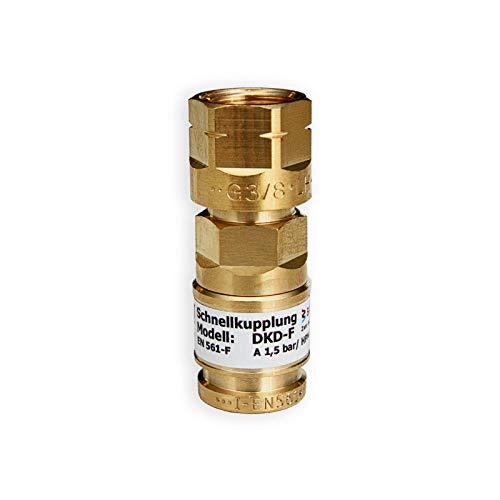 IBEDA Schnellkupplung DKD Schlauchkupplung mit Überwurfmutter, automatischer...