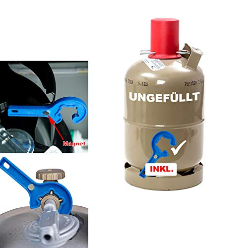 CAGO 5 kg Gas-Flasche Propangas Neu, ungefüllt, leer, für Gasgrill, Gaskocher...